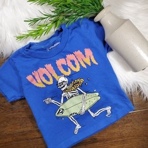Volcom Short Sleeve Shirt | sz 2T | blue | orange